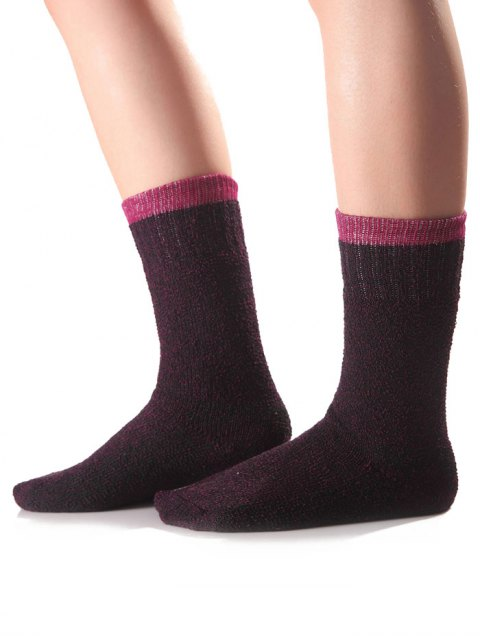new Candy Edge Knit Socks - PURPLE  Mobile