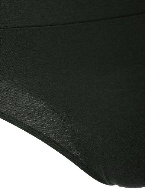 Manches longues Plunge Bodysuit - Vert Foncé M Mobile