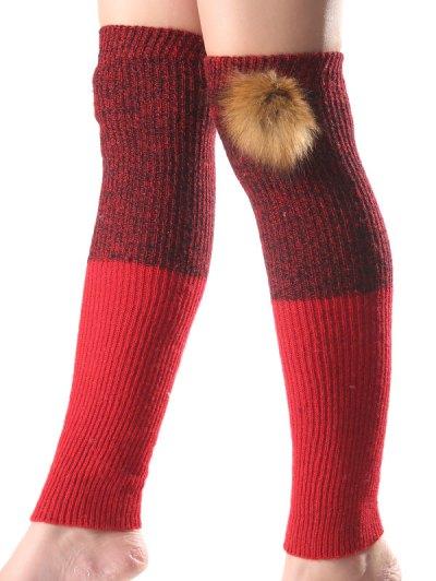 Faux Mink Hair Knit Leg Warmers от Zaful.com INT
