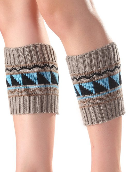 Wavy Pattern Knit Boot Cuffs