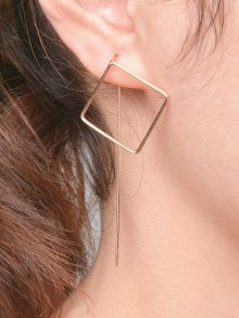 Hollow Out Square Earrings