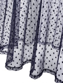 Dotted Two Piece Dress - CADETBLUE L