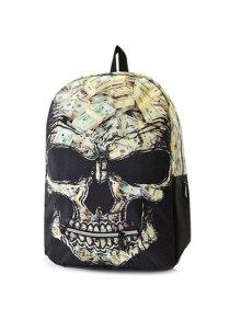 Color Block Grimace Pattern Bill Print Backpack - Black