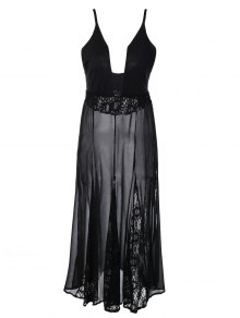 See-Through Lace Cami Dress