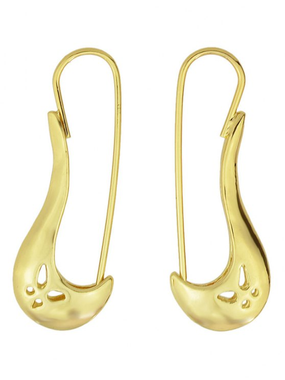outfits Hollowed Butterfly Alloy Earrings - GOLDEN