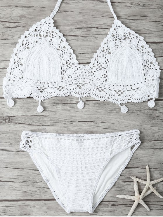 Malla De Punto Bikini - Blanco S
