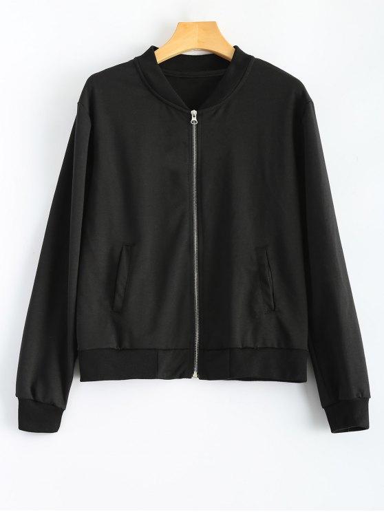 Comfy Baseball Jacket BLACK: Jackets & Coats | ZAFUL