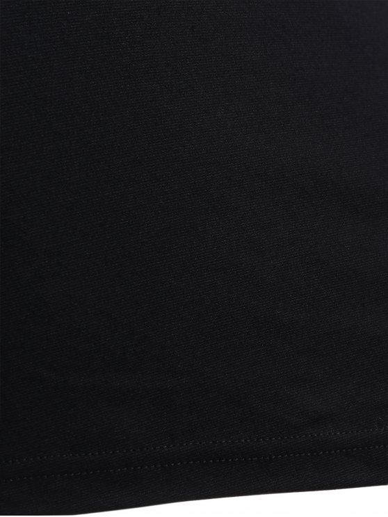 Cami Lace Spliced Bodycon Dress - BLACK M Mobile