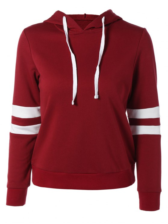 outfit Sports Color Block Hoodie - RED XL