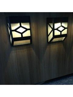 LED Solar Garden Lights Outdoor Decorative Waterproof Courtyard Panel Lamp - Black