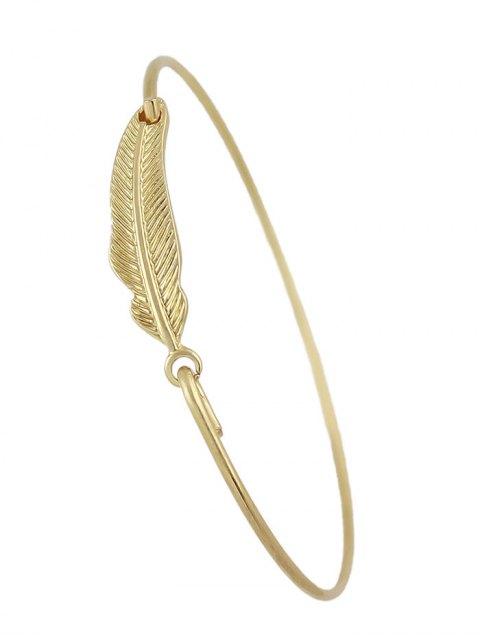 fancy Vintage Feather Adorn Bracelet - GOLDEN  Mobile
