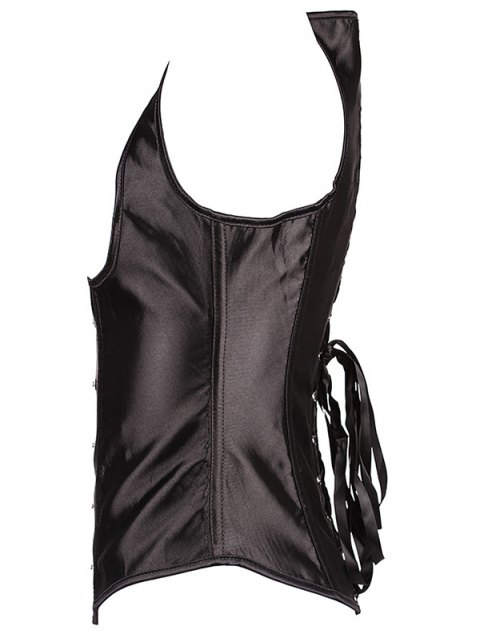 online Lace Up Corset With G-String - BLACK 2XL Mobile