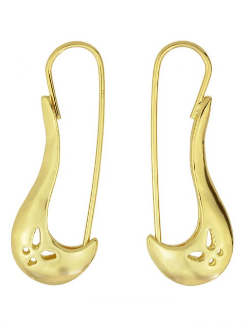 outfits Hollowed Butterfly Alloy Earrings - GOLDEN  Mobile