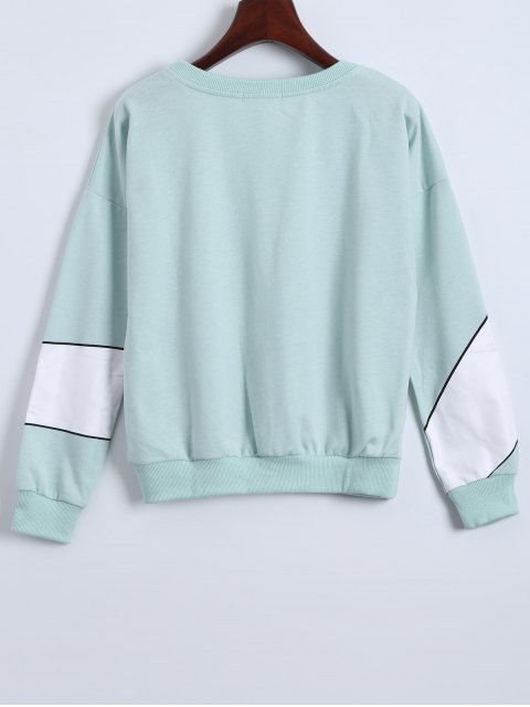 hot Gesture 3D Print Funny Sweatshirt - LIGHT GREEN ONE SIZE Mobile