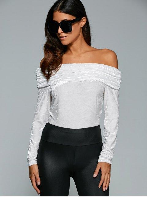 Off The Body épaule de velours - Blanc M Mobile