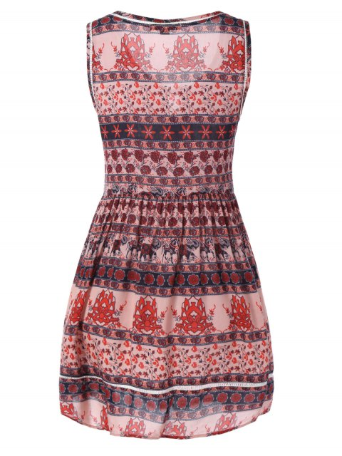 unique Mini Printed Tank Dress - COLORMIX M Mobile