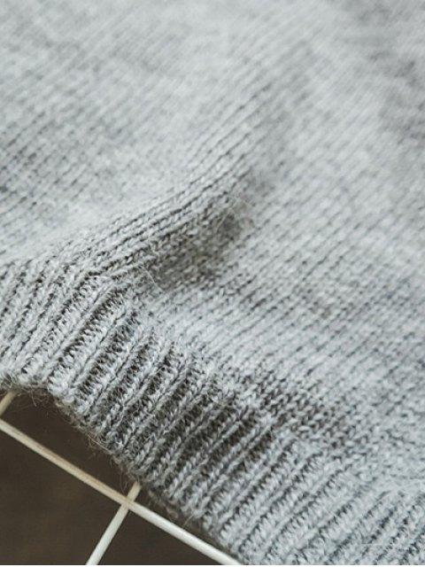 best Side Furcal Knitted Vest - BLACK ONE SIZE Mobile
