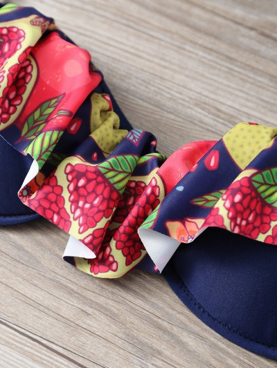 Halter Neck Tropical Print Overlay Bikini от Zaful.com INT
