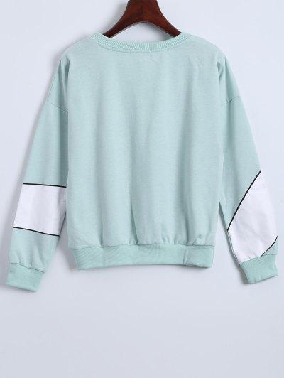 Gesture 3D Print Funny Sweatshirt - LIGHT GREEN ONE SIZE Mobile
