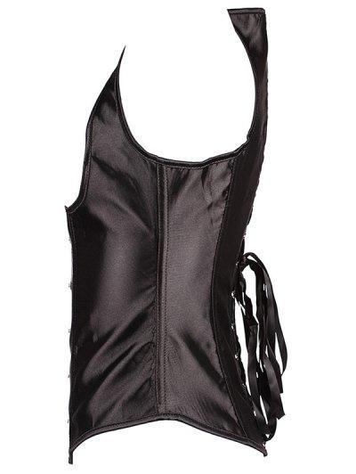 Lace Up Corset - BLACK 6XL Mobile