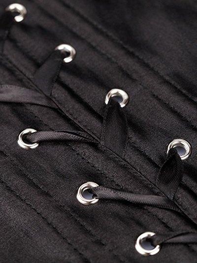Lace Up Corset - BLACK M Mobile