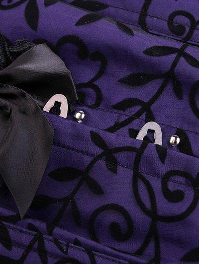 Retro Lace Spliced Corset - PURPLE S Mobile