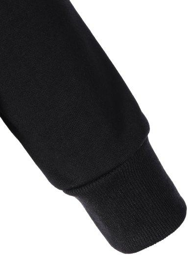 Sports Color Block Hoodie - BLACK M Mobile
