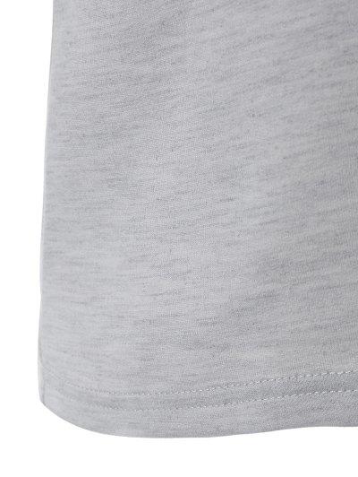 Loose Geometric Print Sweatshirt - GRAY XS Mobile