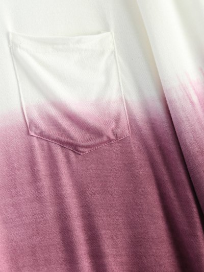 Ombre Backless T-Shirt - RED WITH WHITE M Mobile