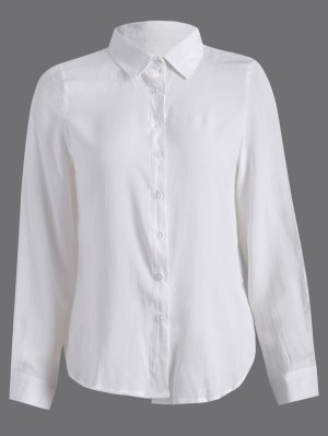 Side Slit Casual Shirt - White