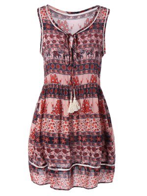 Mini Printed Tank Dress