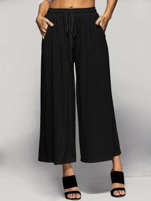 Los Pantalones Elásticos De La Cintura Culotte - Negro