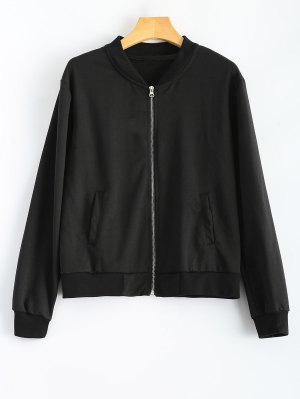 Comfy Baseball Jacket - Black