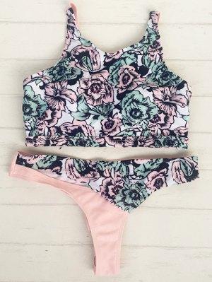 High Neck Pullover Floral Bikini Set
