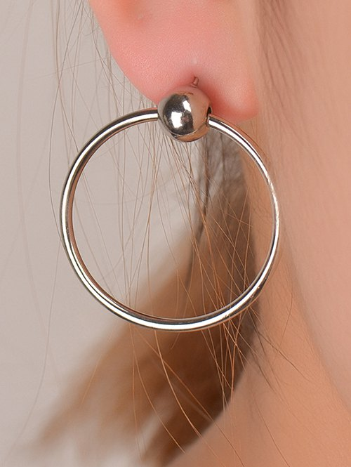 Bead Round Circle Earrings