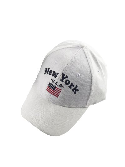 New York and USA Flag Embroidery Corduroy Baseball Hat