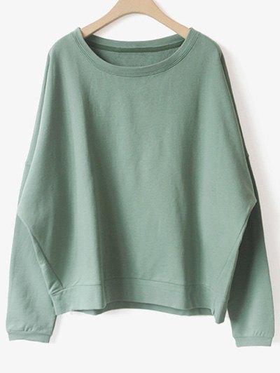 Bat-Wing Sleeve Casual Sweatshirt