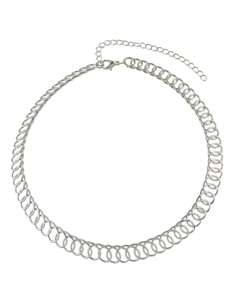 Alloy Circle Chain Choker