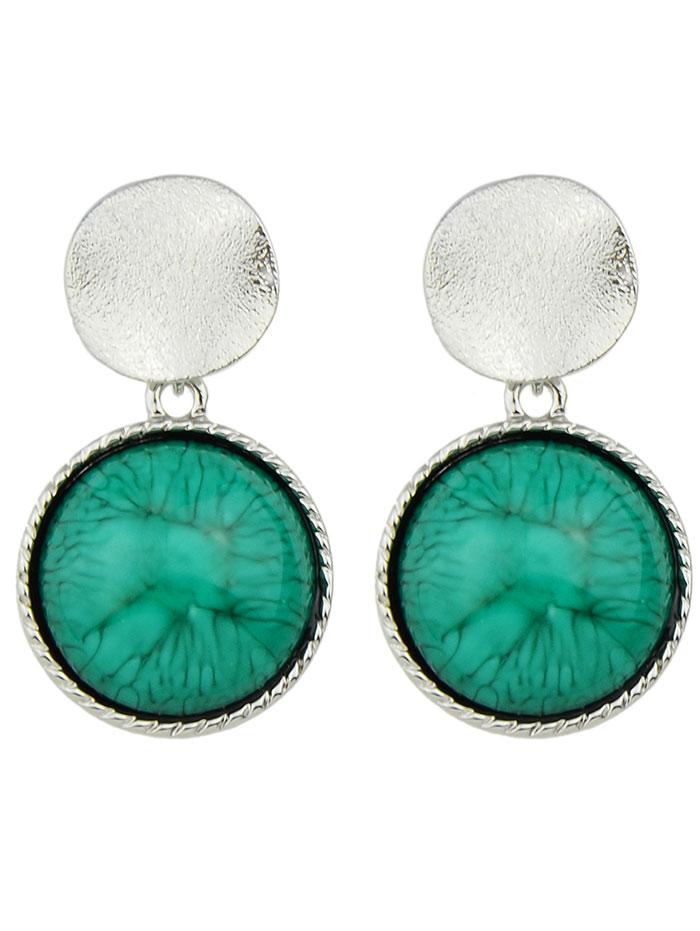 Faux Gem Circle Sequin Earrings