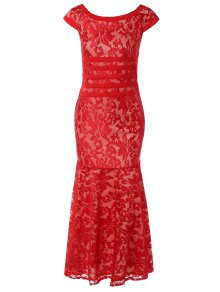 Maxi Lace Bodycon Dress