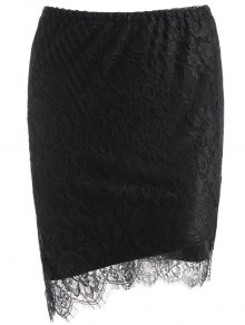 Bodycon Asymmetric Lace Skirt