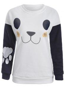 Cute Print Color Block Sweatshirt