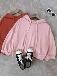 Drawstring Hoodie - Pink