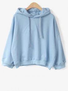 Drawstring Hoodie - Light Blue