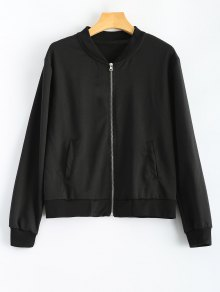 Comfy Baseball Jacket - Black S