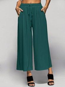 Elastic Waist Culotte Pants