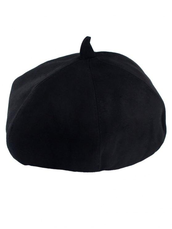Gamuza sintética de la boina - Negro