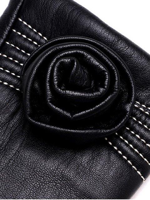 latest Flower Thicken Short Gloves - BLACK XL Mobile