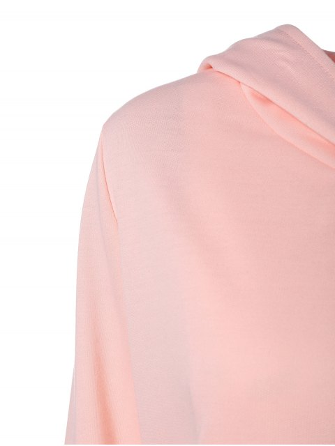 latest Zip Flying Hooded Sports Suit - SHALLOW PINK S Mobile