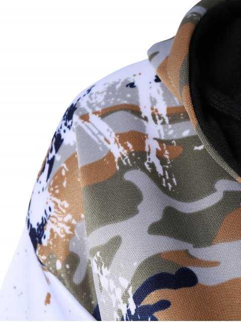 chic Camo Hooded Sports Suit - JUNGLE CAMOUFLAGE L Mobile